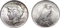 One Dollar 1924 United States Peace Dollar...