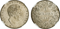 Gulden 1838 Wiesba Germany Wilhelm, 1819-3...