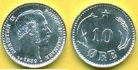 10 Öre 1889 Dänemark Christian IX. vz-stgl