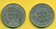 20 Rappen 1859 Schweiz  vz+