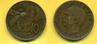 10 Centesimi 1919 Italien Vittorio Emanuel...