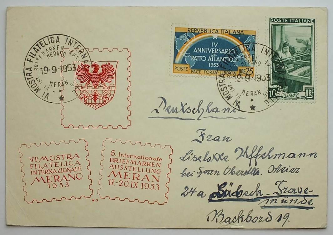 Postkarte Italien Deutschland