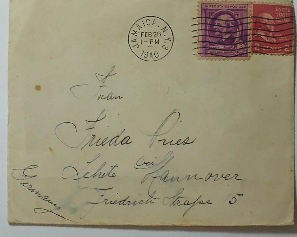 1940 Usa Usa Brief Gelaufen Nach Deutschland Mit Zensursiegel