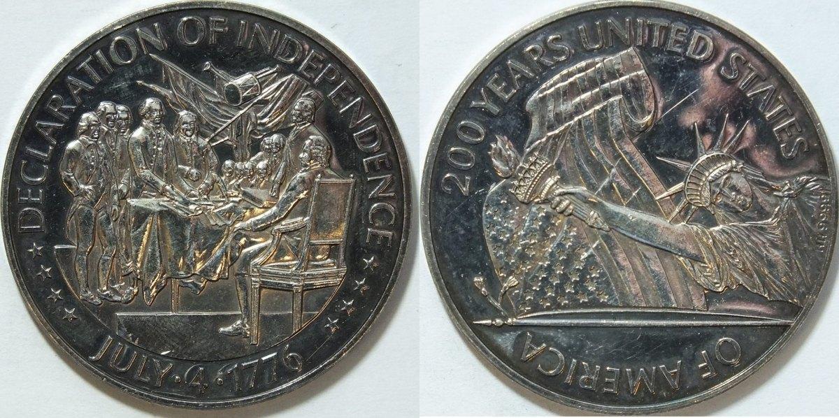 1976 Usa Silbermed 200 Jahre Unabh 228 Ngigkeit Der Usa 49 9