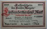100.000 Mark 1923 Mayen  1