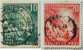 1949 Bund Michel Nr. 111 und 112 gestempelt