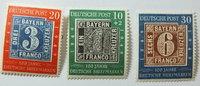 1949 Bund Michel Nr. 113, 114, 115 Postfr...