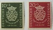 10 + 20 Pf 1950 Bund Michel Nr. 121 und 12...