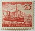 10 Pf 1952 Bund Michel Nr. 152     Rückgab...