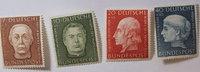 1954 Bund Michel Nr. 200 - 203  Helfer de...