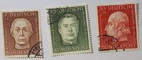 1954 Bund Michel Nr. 200, 201 und 202  - ...