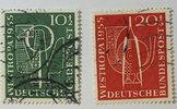 1955 Bund Michel Nr. 217 und 218    Inter...