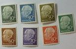 1956 Bund Michel Nr. 259y - 265y   Heuss ...