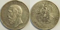 5 Mark 1876 Baden Friedrich s   Randfehler
