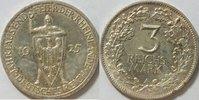3 Mark 1925 A Weimarer Rep. Rheinlande vz ...