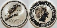 1 $ 2003 Australien Kookaburra st gekapselt
