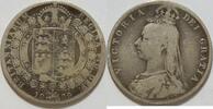 1/2 Crown 1889 Großbritannien  s