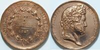 Bronzemed. 1847 Frankreich Luis Philippe I vz