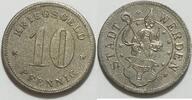 10 Pfennig o.J. Werden  vz raue Oberfläche
