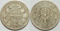 50 Pfennig 1877 A Kaiserreich  s