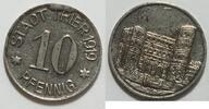 10 Pfennig 1919 Trier Prägestempelbruch ss