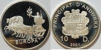 10 Dinar 2001 Andora  PP gekapselt