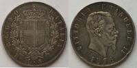 5 Lire 1876 Italien Victor Emmanuel II (18...