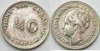 1/4 Gulden 1947 Niederlande/ Curacao  ss