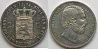 2,5 Gulden 1857 Niederlande  ss