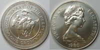 1 Crown 1980 Insel Man  unc Silber