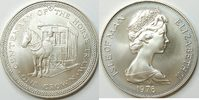 1 Crown 1976 Insel Man  unc Silber
