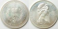 1 Crown 1977 Insel Man  unc Silber