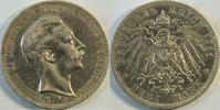 3 Mark 1911 Kaiserrreich Preussen Kursmünz...