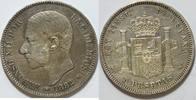 5 Pesetas 1882 Spanien  ss
