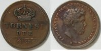 2 Tornese 1845 Italien Neapel  ss