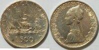 500 Lire 1959 Italien Schiffsmotiv vz