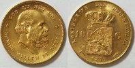 10 Gulden 1879 Niederlande  vz - st