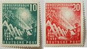 1949 Bund Michel Nr. 111 und 112 Postfris...