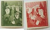 10 Pf 1952 Bund Michel Nr. 153 und 154 Jug...