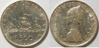500 Lire 1959 Italien Schiffsmotiv ss
