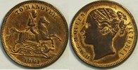 1/2  Pfund 1861 Hannover unter Grossbritan...
