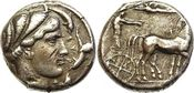 AR Tetradrachm. c. 430-420 BC Griechenland Sicily, Syracuse NGC Ch VF