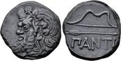 Æ26. 340-325 BC. Griechenland, Cimmerian Bosporos, Pantikapaion. VZ