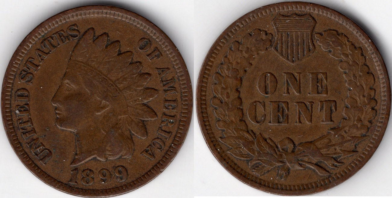 INDIAN HEAD 1899 PENNY