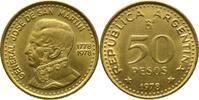 50 Pesos 1978/1778 Argentinien General José de San Martín VZ  5,00 EUR  +  15,00 EUR shipping