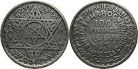 100 Francs 1953/1372 Marokko Muhammad VI. ibn Arafa VZ  8,80 EUR  +  15,00 EUR shipping