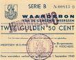 2 1/2 Gulden(NOODGELD)PL695.2.B 1940 Netherlands  Meerssen B Nr.00813 18 MEI T.89.02 XF-