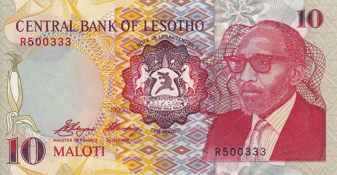 1990 P-11 Unc Lesotho 10 Maloti