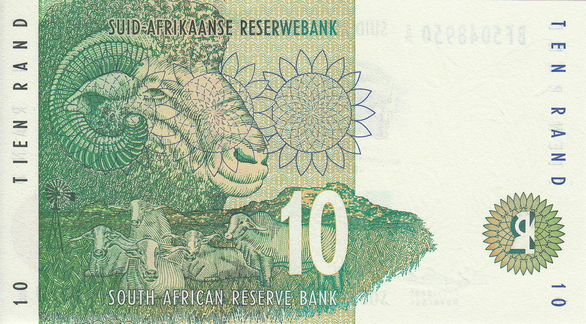 SOUTH AFRICA 10 Rand UNC 1993 p-123a