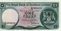 1 Pound 1972 Scotland BRIDGE P.336 I-